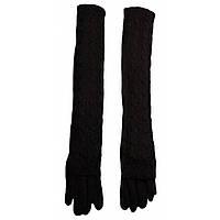 Длинные перчатки женские шерстяные модные ПЖ1196