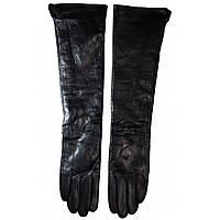 Перчатки длинные кожаные женские ПЖ1011