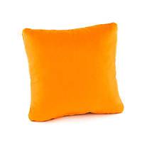 Подушка декоративна квадратна, помаранчевий флок_под нанесення, фото 1
