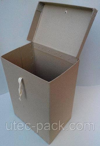 Короб архивный ЦОД НТИ 200 х 280 х 400 мм коричневый КАС