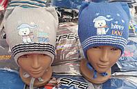 Детские шапочки для мальчиков 1-2 года на флисе