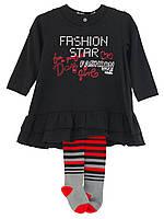 Детский Комплект: платье, колготы для девочки 2-7 лет