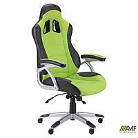 Геймерское кресло Форсаж  Кресло Форсаж №3 (1709) к/з PU черный/зеленые вставки