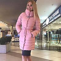 Короткое зимнее стеганное пальто