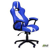Геймерское кресло Форсаж  Кресло Форсаж №5 (1675) к/з PU синий/белые вставки