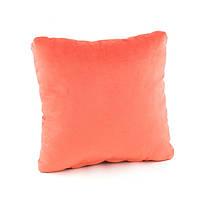 Подушка декоративная квадратная, персиковый флок_под нанесение, фото 1