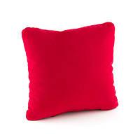 Подушка декоративная квадратная, красный флок_под нанесение, фото 1