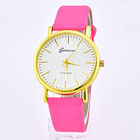 Часы G-017 диаметр циферблата 3.8 см, длина ремешка 17-21 см, ярко-розовый цвет