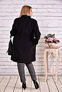 Женский демисезонное пальто T0614 / размер 42-74 / цвет черный большие размеры, фото 2