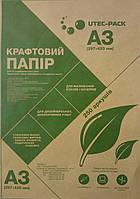 Крафтовая бумагаЮТЭК Формат А3 коричневая КБА3-250 - П80