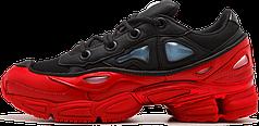 Женские кроссовки Adidas x Raf Simons Ozweego Bunny Red Black DA8775, Адидас Раф Симонс Озвиго