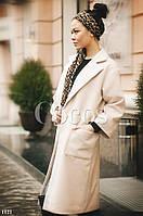 Пальто кашемир  с карманами, на пуговице