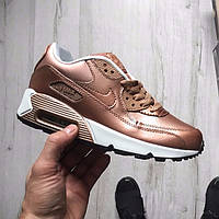 "Кроссовки Nike Air Max 90 SE Leather GS ""Metallic Red Bronze"""