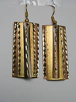 Серьги в виде золотистых пластин