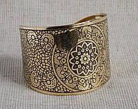Браслет-скоба под золото. Индийские браслеты