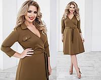 Платье женское кофейное (4 цвета) ТК/-02062