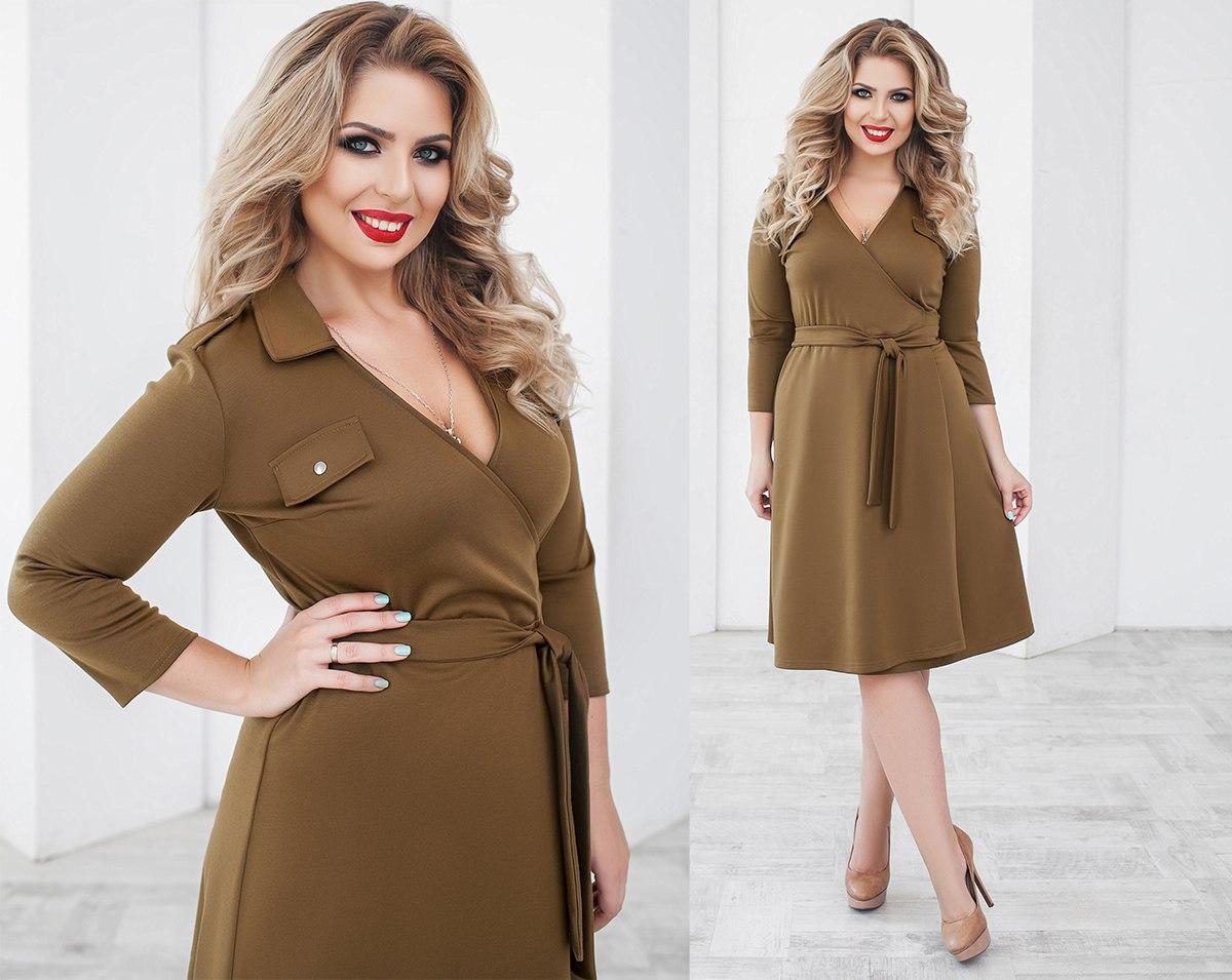 Платье женское кофейное (4 цвета) ТК/-02062 - Dress Up*-интернет магазин женской одежды в Одессе