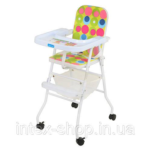 Детский стульчик для кормления BAMBI (M 0397) на колесиках