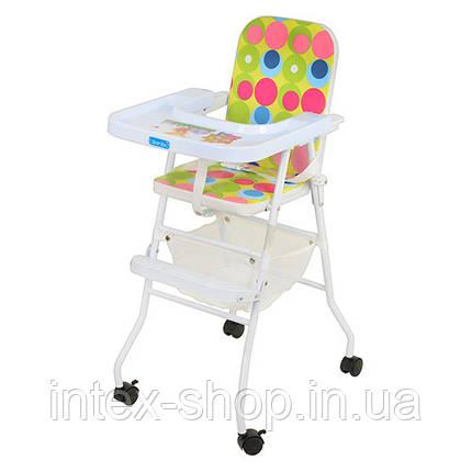 Детский стульчик для кормления BAMBI (M 0397) на колесиках, фото 2