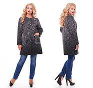 Женское кашемировое пальто на осень / размер 50,52 / цвет графит баталл, фото 5