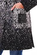 Женское кашемировое пальто на осень / размер 52,54 / цвет черно-белый баталл , фото 3