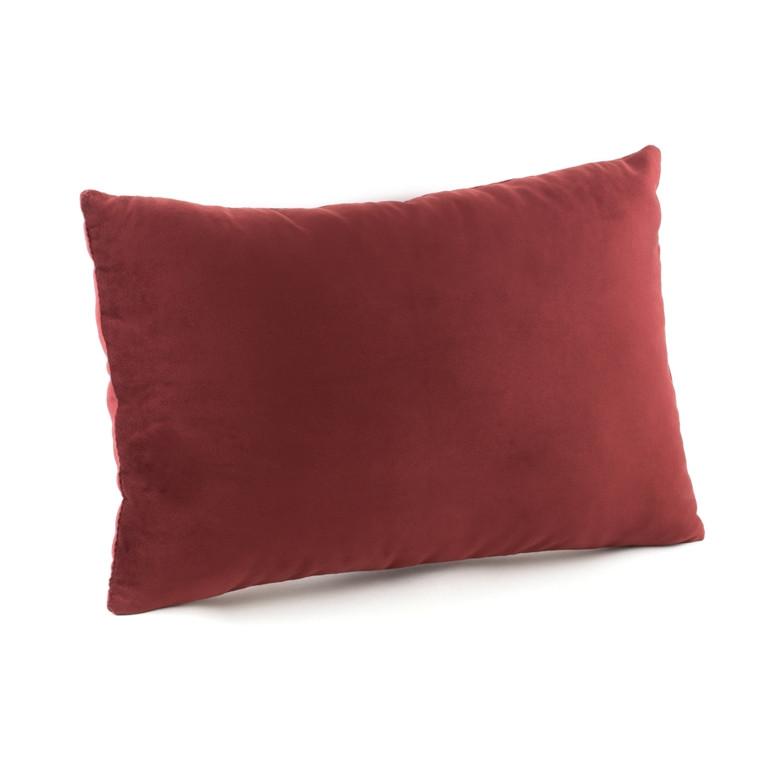 Подушка декоративная прямоугольная, бордо флок_под нанесение