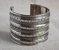 """Браслет  под серебро """"Змеиная кожа"""". Индийские браслеты"""