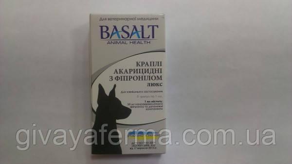Капли акарицидные с фипронилом Люкс 1 мл, для собак (от блох, клещей, вшей)