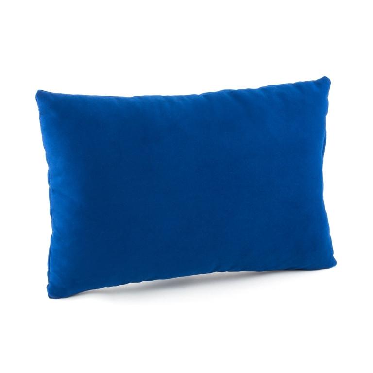 Подушка декоративная прямоугольная, синий флок_под нанесение