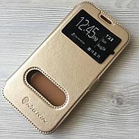 Золотистая чехол-книжка Nillkin Samsung A3/A320