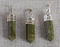 Подвеска из зеленой яшмы. Кулон с зеленой яшмой