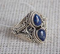 Кольцо с лазуритом 18 размера. Серебряные кольца