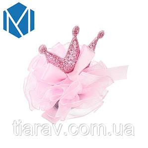 Корона детксая ТЕЯ корона заколка для волос розовая детские украшения для девочек