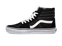 Зимние женские кеды Vans Sk8 Old Skool High Top Trainers Black/White