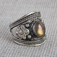 Перстень ручной работы с лабрадором(№5). Кольцо с лабрадором