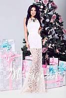 Платье женское нарядное гипюровое белое 2786