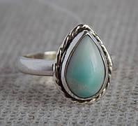 Серебряное кольцо с ларимаром 17 размера