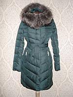 Пальто женское зимнее Lusskiri 8150 изумрудный