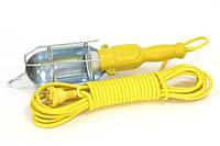 Переносная лампа электрическая с удлинителем 10 м желтый удлинитель переноска гаражная