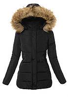 """Женская зимняя куртка со съёмным капюшоном """"Ната"""""""