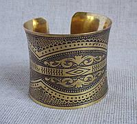 Индийский браслет под золото. Широкие браслеты