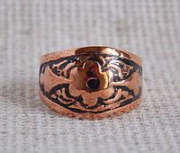 Кубачинское медное кольцо 17 размера. Кольца из меди