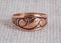 Кубачинское медное кольцо 18 размера. Кольца из меди