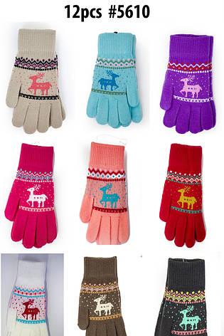 Трикотажные перчатки вязаные 5610, фото 2