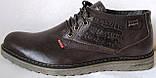 Levis зимние коричневые кожаные мужские ботинки в стиле Левис, фото 2