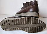 Levis зимние коричневые кожаные мужские ботинки в стиле Левис, фото 4