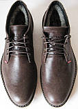 Levis зимние коричневые кожаные мужские ботинки в стиле Левис, фото 6