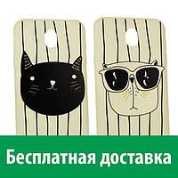 Матовый чехол с картинкой Коты для Samsung Galaxy J7-2017, J730F (европейская версия) (Самсунг джей 7 2017, джи 7 2017, ж 7 2017)