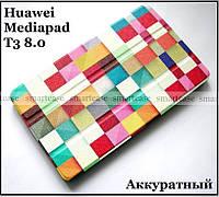 Color Blocks оригинальный чехол книжка Huawei Mediapad T3 8 KOB-L09, чехол TFC эко кожа Кубики