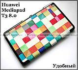 Color Blocks оригинальный чехол книжка Huawei Mediapad T3 8 KOB-L09, чехол TFC эко кожа Кубики, фото 6